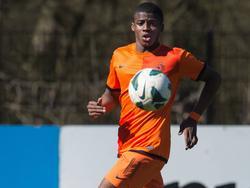 Javairô Dilrosun in actie tijdens Nederland onder 16 - Ierland onder 16. (20-03-2014)