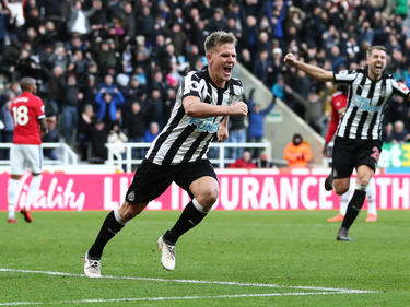 Matt Richie celebra el tanto de la victoria del Newcastle. (Foto: Getty)