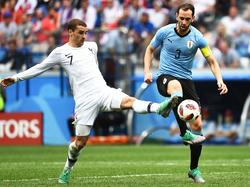 Antoine Griezmann (l.) will Uruguay endlich persönlich besuchen. © imago/ImagineChina/Hu jinxi
