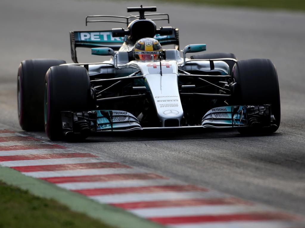 Lewis Hamilton war im Silberpfeil schnell unterwegs