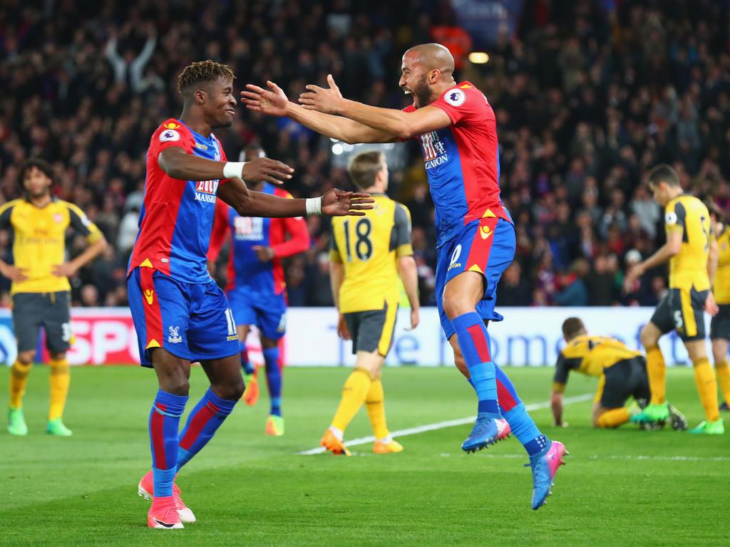 Crystal Palace bejubelt den ersten Treffer des Abends