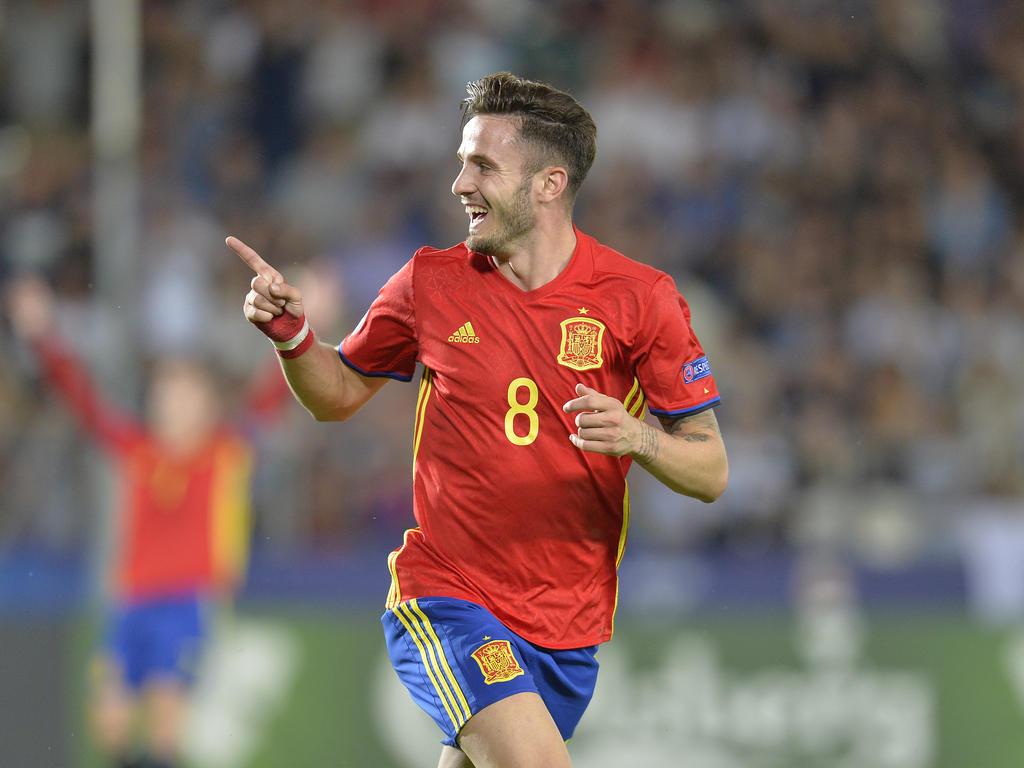 Saul Níguez bejubelt einen seiner drei Treffer im EM-Halbfinale gegen Italien