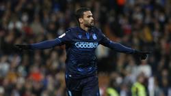 Willian José en un duelo frente al Real Madrid.