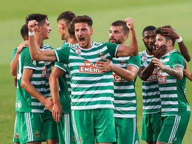 Ercan Kara (m.) sorgte für Rapids Goldtor in Zagreb