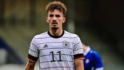 Mergim Berisha läuft für die deutsche U21-Auswahl auf