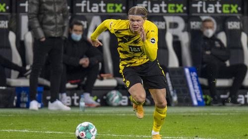 Hat sein 27. Tor in seinem 28. Bundesligaspiel erzielt: BVB-Stürmer Erling Haaland