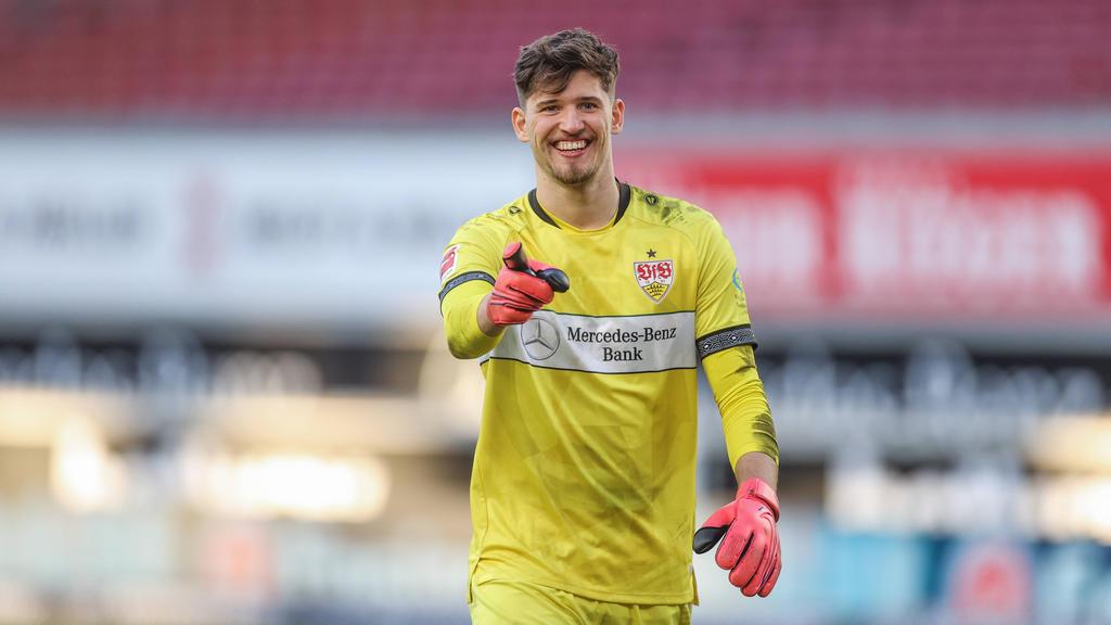 Gregor Kobel vom VfB Stuttgart wird mit dem BVB und RB Leipzig in Verbindung gebracht