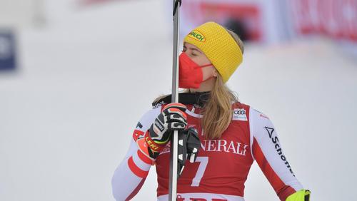 Katharina Liensberger schnappt sich den Slalom-Weltcup im Herzschlagfinale
