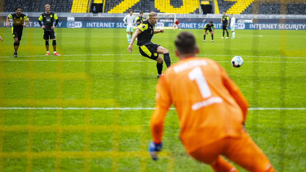 Erling Haaland traf doppelt für den BVB gegen Werder Bremen