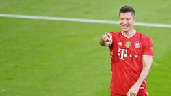 Robert Lewandowski trifft für den FC Bayern beinahe nach Belieben
