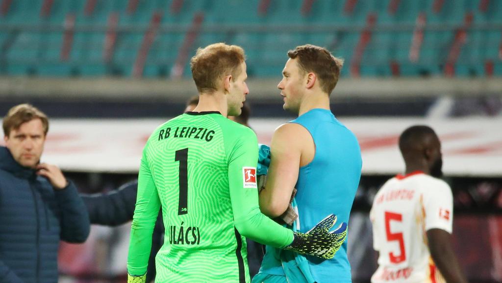 Laut Ungarn-Trainer Rossi auf einem Niveau: RB Leipzigs Peter Gulácsi und Bayern Münchens Manuel Neuer