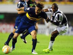 Daniel Osvaldo estuvo muy activo y se estrenó en Boca con el gol definitivo. (Foto: Imago)