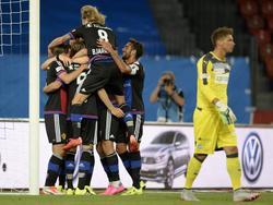 Los jugadores del Basilea celebrando un gol ante el FC Zürich. (Foto: Getty)