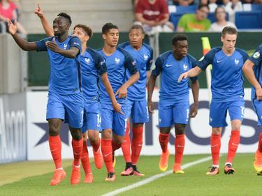 Ausgelassene Freude bei den französischen Junioren