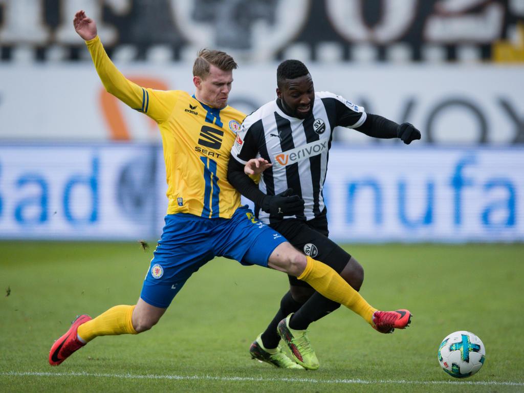 Ein umkämpftes Spiel zwischen Sandhausen und Braunschweig endete ohne Sieger