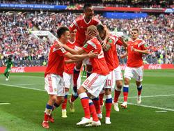Pure Freude bei den Russen