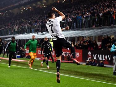 Cristiano marcó el segundo gol de la Juve en San Siro. (Foto: Getty)