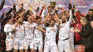 El Atlanta celebra su condición de campeón en la Conferencia Este. (Foto: Imago)
