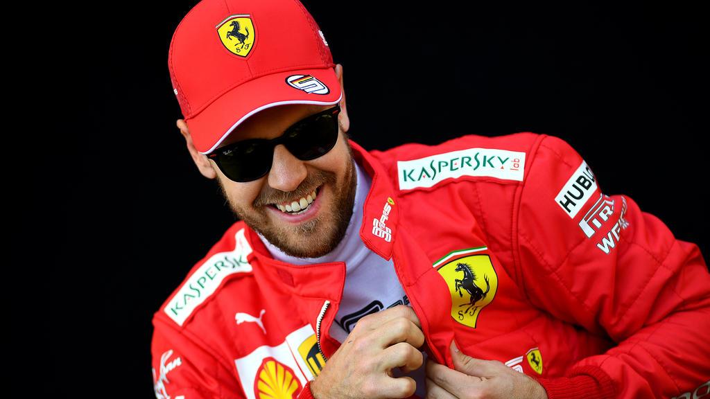 Sebastian Vettel wirkte bei der PK zuversichtlicher als Lewis Hamilton