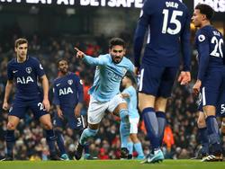 Ilkay Gündogan traf beim Sieg von Manchester City gegen Tottenham