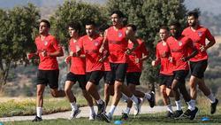 Entrenamiento del Atlético de Madrid en Segovia.
