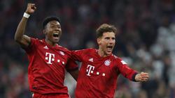 David Alaba und Leon Goretzka sind beim FC Bayern wieder ins Mannschaftstraining eingestiegen