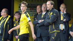 Adnan Januzaj (l.) wurde beim BVB unter Thomas Tuchel nicht glücklich