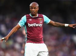 Kaum bei West Ham angekommen, fällt Ayew verletzungsbedingt lange aus