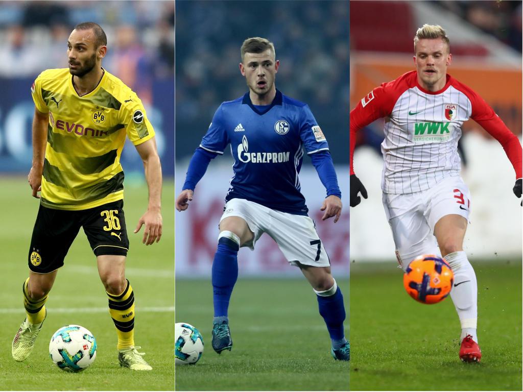 Ömer Toprak (l.), Max Meyer (M.) und Philipp Max (r.) sollen Kandidaten bei PSG sein