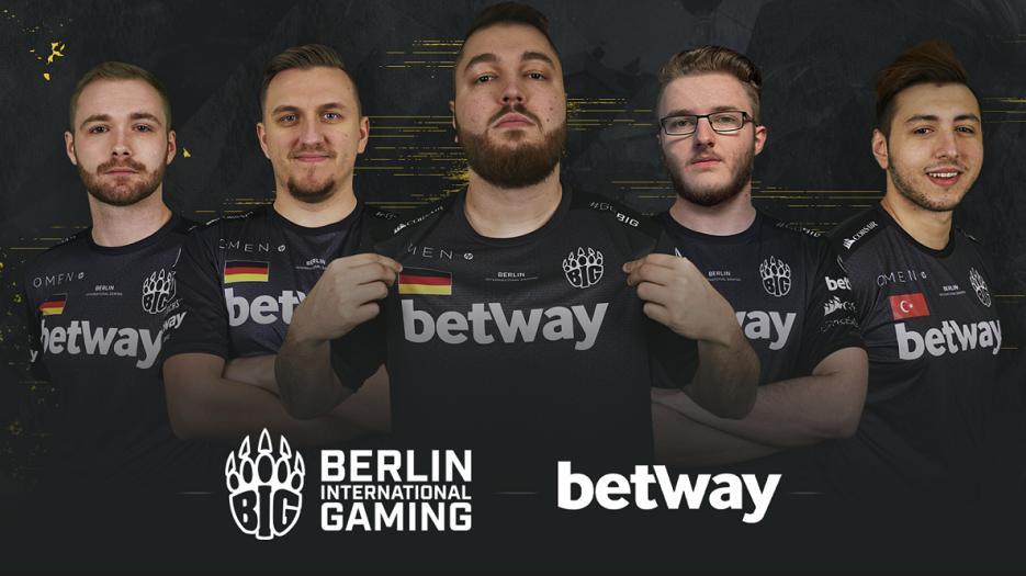 Eines der führenden Berliner Esports-Teams hat einen neuen Partner vorgestellt (Bildquelle: BIG / Betway)