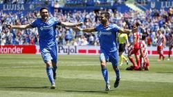 Ángel y Molina celebran el segundo gol del Getafe. Foto: (@lnstantFoot)