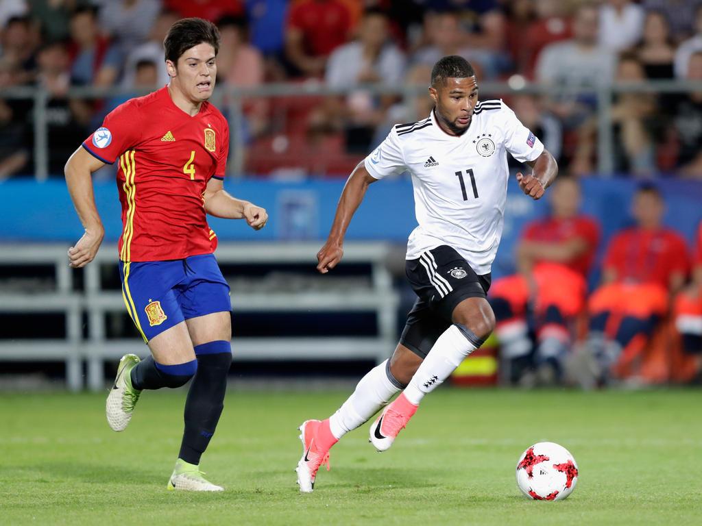 Spaniens Junioren-Nationalspieler Jorge Meré (li.) steht beim 1. FC Köln auf dem Zettel