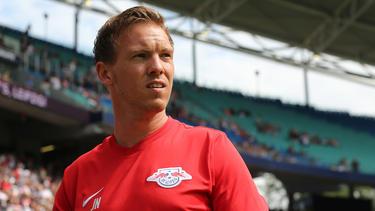 Julian Nagelsmann geht in seiner erste Saison als Leipzig-Trainer