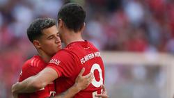 Robert Lewandowski freut sich über die Verpflichtung von Coutinho