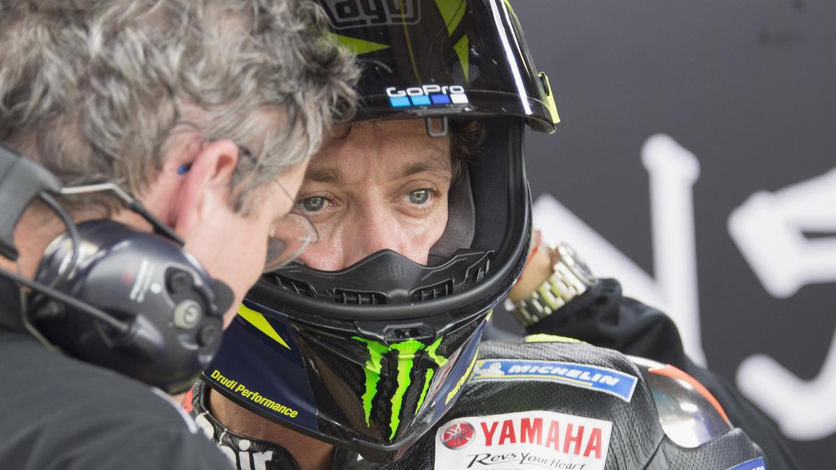 Valentino Rossis Rennen endete im Kiesbett