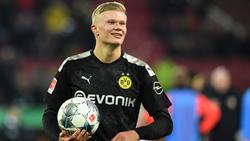 Erling Haland traf dreimal bei seinem Bundesliga-Debüt