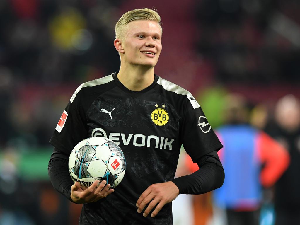 Erling Håland traf bei seinem Debüt in der deutschen Bundesliga drei Mal