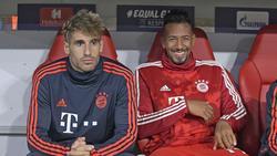 Die Zeit von Javi Martínez (l.) und Jérôme Boateng beim FC Bayern läuft allmählich ab