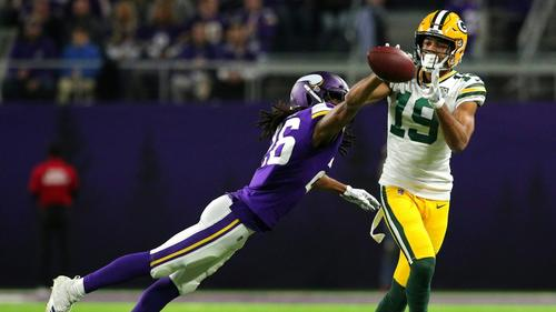 Verletzt: Equanimeous St. Brown (r.)