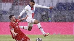 Kylian Mbappé (r.) will mit Paris ins Halbfinale der Champions League