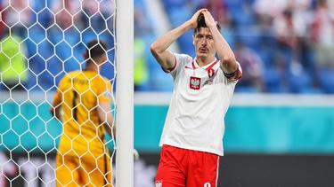 Robert Lewandowski enttäuschte bei Polens EM-Auftakt