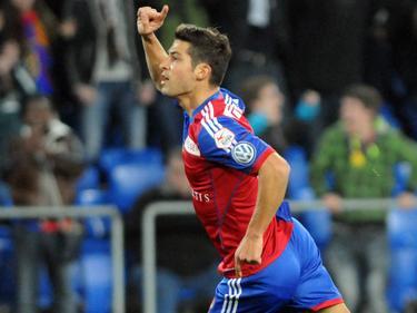 Davide Callà bejubelt seinen Treffer