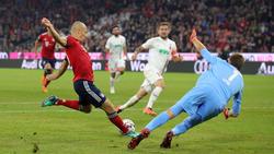 Robben adelantó al Bayern en el derbi. (Foto: Getty)