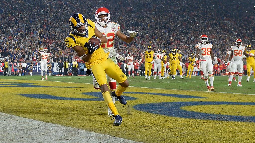 Die Rams feierten einen historischen Erfolg gegen die Chiefs