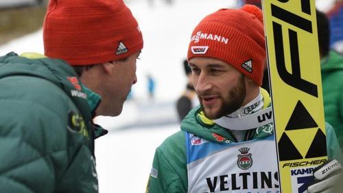 Bundestrainer Werner Schuster (l.) und Markus Eisenbichler
