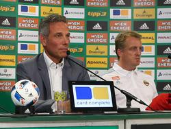 Rapid-Präsident Michael Krammer äußerte sich zur Trennung von Trainer Mike Büskens