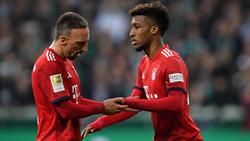 Kingsley Coman (r.) soll Franck Ribéry (l.) beim FC Bayern ersetzen