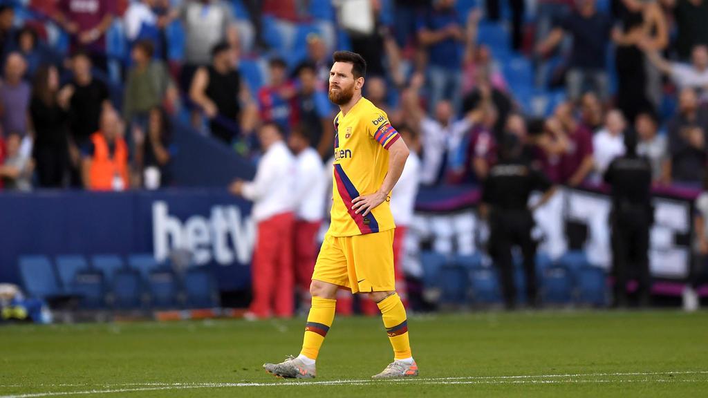 Lionel Messi konnte die Niederlage des FC Barcelona nicht verhindern