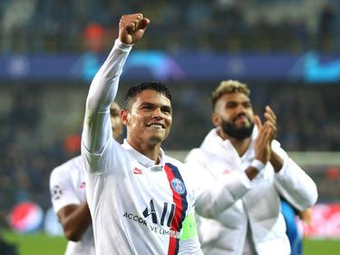 Thiago Silva celebra la victoria en casa del Brujas.