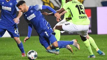 Der KSC verlor zum Rückrunden-Auftakt gegen den SV Wehen Wiesbaden